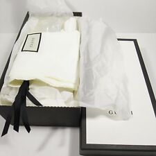 """GUCCI Authentic Empty Shoe Box with Unused Dust Bags (12 1/2"""" x 6 3/4"""" x 4 1/4"""")"""