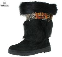 Bearpaw Womens Kola II Goat Fur Boots, BLACK, 7B - Damaged Box