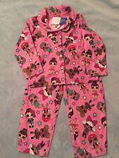 NWT LOL Surprise Size 4 Long Sleeve Flannel Shirt/Pants Pajamas