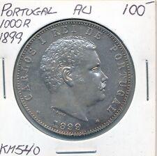 PORTUGAL 1000 REIS 1899 KM 540  - AU