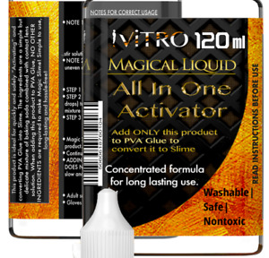Slime ACTIVATOR 120ml Magical Activator Make 3L Slime For Clear & White PVA Glue