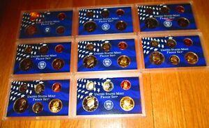 1999 2000 01 02 03 04 2005 2006  Partial Proof Set U.S. Mint Plastic Slab