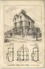 1869 Semi Detached Cottages, Lower Tooting, Owen Davis, Design, Plan