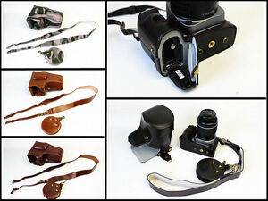New leather camera case bag cover for Pentax K-3II 18-135mm lens, K3II K-3 II