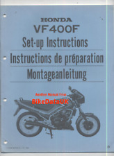 Honda VF400F NC13 (1983-1986) Genuine Dealers PDI Set-Up Manual VF 400 F V4 CP31