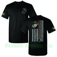 United States Marine Corps USMC Military Veteran Soldier USA Support T-Shirt Tee