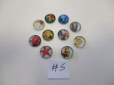 10 X Cabujones semicirculares de vidrio claro Impreso Redondo 12 Mm-estrellas de mar - #5