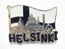 Helsinki Metal Magnet Flag Collage Souvenir Finland 2in