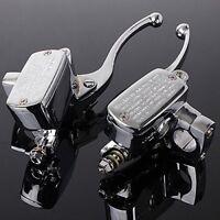 "1"" Motorrad Bremshebel & Kupplungshebel Hydraulikbremse Bremszylinder Universal"