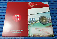 2015 Singapore 50th Anniversary of Independence SG50 $5 Commemorative Coin