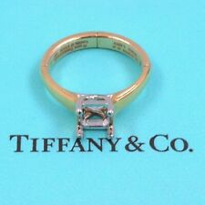 Tiffany & Co 18k Yellow Gold and Platinum Setting Semi Mount Ring for Arthritis