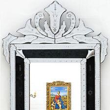 VENEZIANISCHER SPIEGEL schwarz ca.120x60cm MURANO GLASSPIEGEL, VENETIAN MIRROR