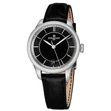Perrelet Women's First Class Lady Black Leather Strap Automatic Watch A2068/2