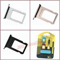 Lot OEM Nano Sim Card SD Card Tray Slot Holder For Phone 8  / 8 Plus  + Adapter