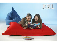 Chillout Pouf Sac assise XXL, Rouge, 380L
