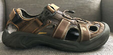Teva Omnium Men's Leather Sandals Hiking Sport Shoes 6153 Brown Size 9 Outdoors