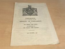 1948 Ceremonial Observed At Opening of Parliament By King George Vi & The Queen