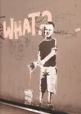 BANKSY POSTER (42x59cm) WHAT? BOY PAINTING NEW ART