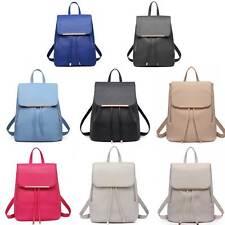 Ladies Girls Fashion PU Leather Shoulder School Travel Bag Backpack