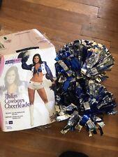 Dallas Cowboys Cheerleader Costume Small With Pom Poms