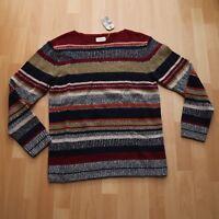 NEU Nudie Jeans Knitted Pullover Pulli Tor Tweed Stripe Multi M