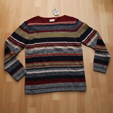 NUOVO Nudie Jeans Knitted Pullover Maglione CANCELLO Tweed Stripe Multi M