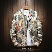Japanese Embroidery Men Jacket Coat Man Autumn New Coat Bomber Jacket Clothes
