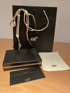 Montblanc Wallet/Cards Box With Guide Certificate Pouch Paper Bag Ribbon - Empty