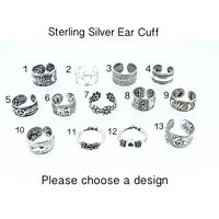 Sterling Silver Ear Cuff Huggy Bali Fake Earring Septum Tragus Body Jewellery