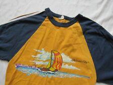 Vtg 70s Atlantic City Sailboat Souvenir T Shirt Sailing Fruit of the Loom S RARE