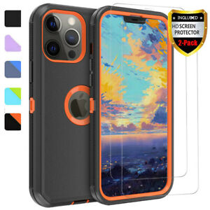 For iPhone 13/12 Pro Max/11/XR Case Shockproof Heavy Duty Cover / Tempered Glass