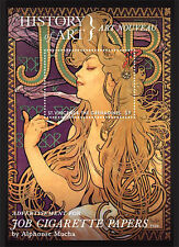 ALPHONSE MUCHA JOB CIGARETTE POSTER ART 1898 SUPERB MNH