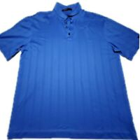 Nike Dri Fit Tiger Woods Collection Mens Blue SS Golf Polo Shirt Size Large