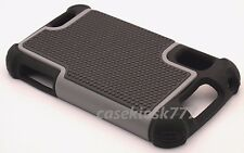 for Motorola atrix 4g mb860 mb 860 black gray case triple 3 layer rugged hybrid
