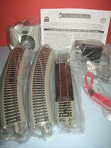 HO/On30 Track & Transformer set: 12 curve, 2 straights. Power cable. New unused