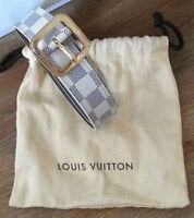 Original Louis Vuitton Gürtel 85 Damier Azul Damenmode Accessioires