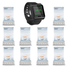 SINGCALL Wireless Paging System 1 Wrist Receive, 10 multi-key Buttons for Cafe