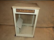 Vintage Tip Top Potato Chips Metal Store Display Cabinet