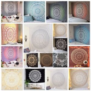 Indian Ombre Tapestry Wall Hanging Mandala Hippie Bedspread Bohemian Gypsy Cover