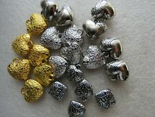 30 Love Heart Charms, Pendants Silver Tibetan Silver  Gold 15mm - 18mm Crafts