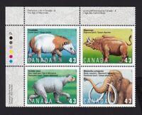PREHISTORIC ANIMALS = Canada 1994 #1532a MNH UL Plate Block of 4 q01