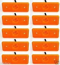 10 PEZZI 12V 4 LED INDICATORE LATERALE ARANCIO AMBRA LUCI PER IVECO MERCEDES