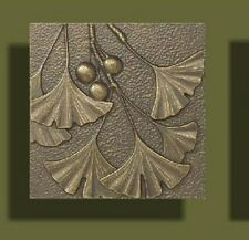 """Arts and Crafts Bronze Tone Gingko Tile by Whitehall 8"""" x 8"""""""