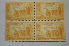 California Centennial of Statehood 1850-1950 3 Cent Stamp Plate Block of 4