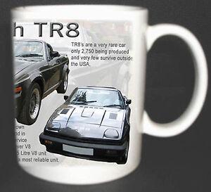 TRIUMPH TR8  CLASSIC CAR MUG. LIMITED EDITION.TOP GIFT *