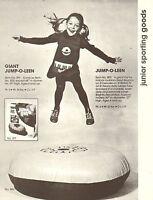 VINTAGE AD SHEET #1943 - RAPCO SPORTING GOODS - GIANT JUMP-O-LEEN