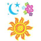 """ Peace, Love  Tattoos "", Sun, Moon  Stars, Flowers, Made in USA"