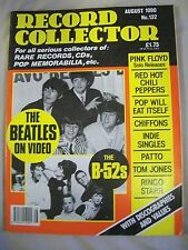 Record Collector Magazine. Issue no. 132. August 1990. B-52s, Beatles, Chiffons