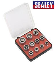 Sealey Ak7281 Boulon Extracteur Ensemble de douilles 11pc 1cmsq SQ Clé Métrique
