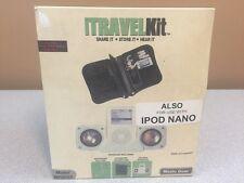 Music Gear i-Travel Kit  MP2002 for iPod - Case, Speaker, Headphone Splitter -